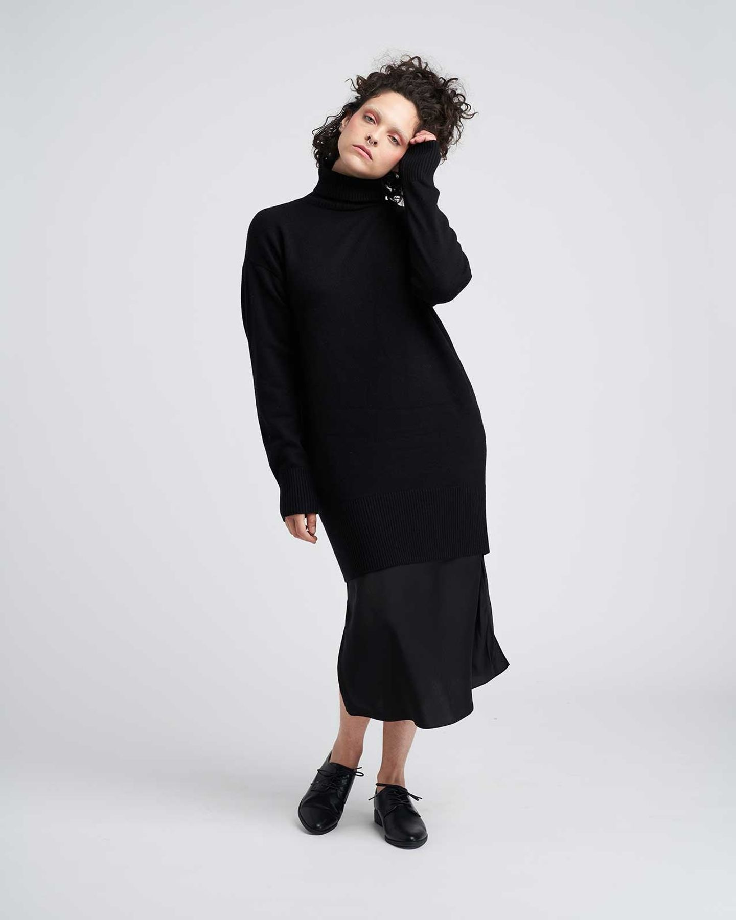 Wheaton Sweater Dress - Black - image 0