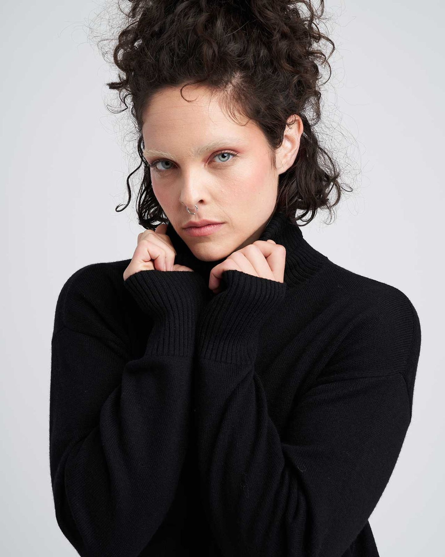 Wheaton Sweater Dress - Black - image 1