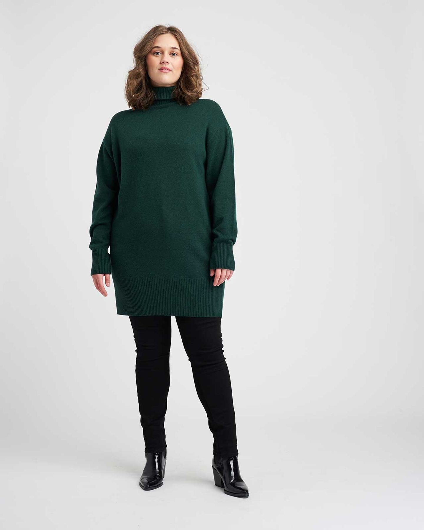 Wheaton Sweater Dress - Emerald - image 0