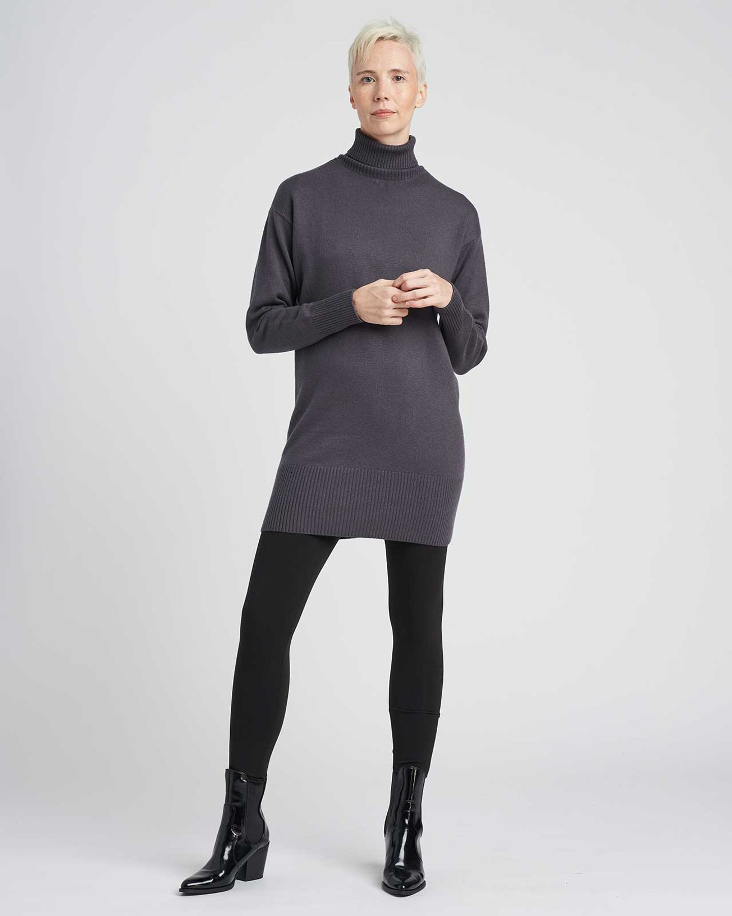 Wheaton Sweater Dress - Slate - image 0