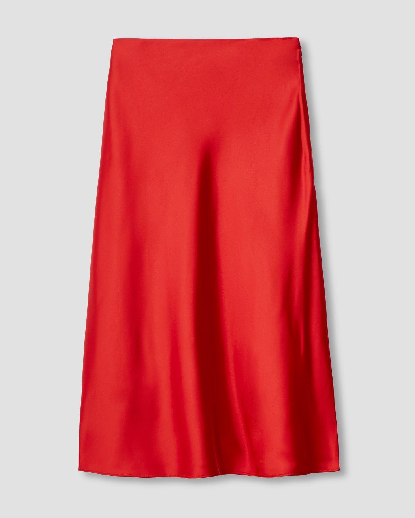 CeeCee Midi Bias Skirt - Red - image 1