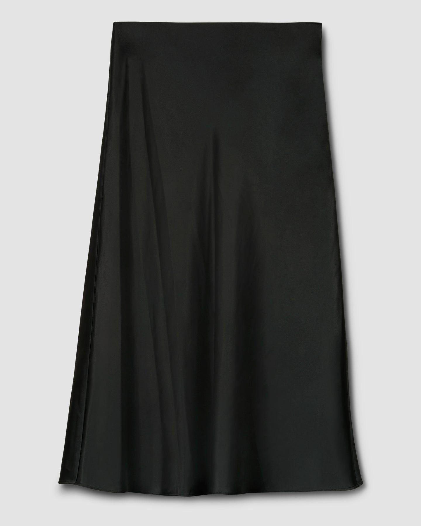 CeeCee Midi Bias Skirt - Black - image 1