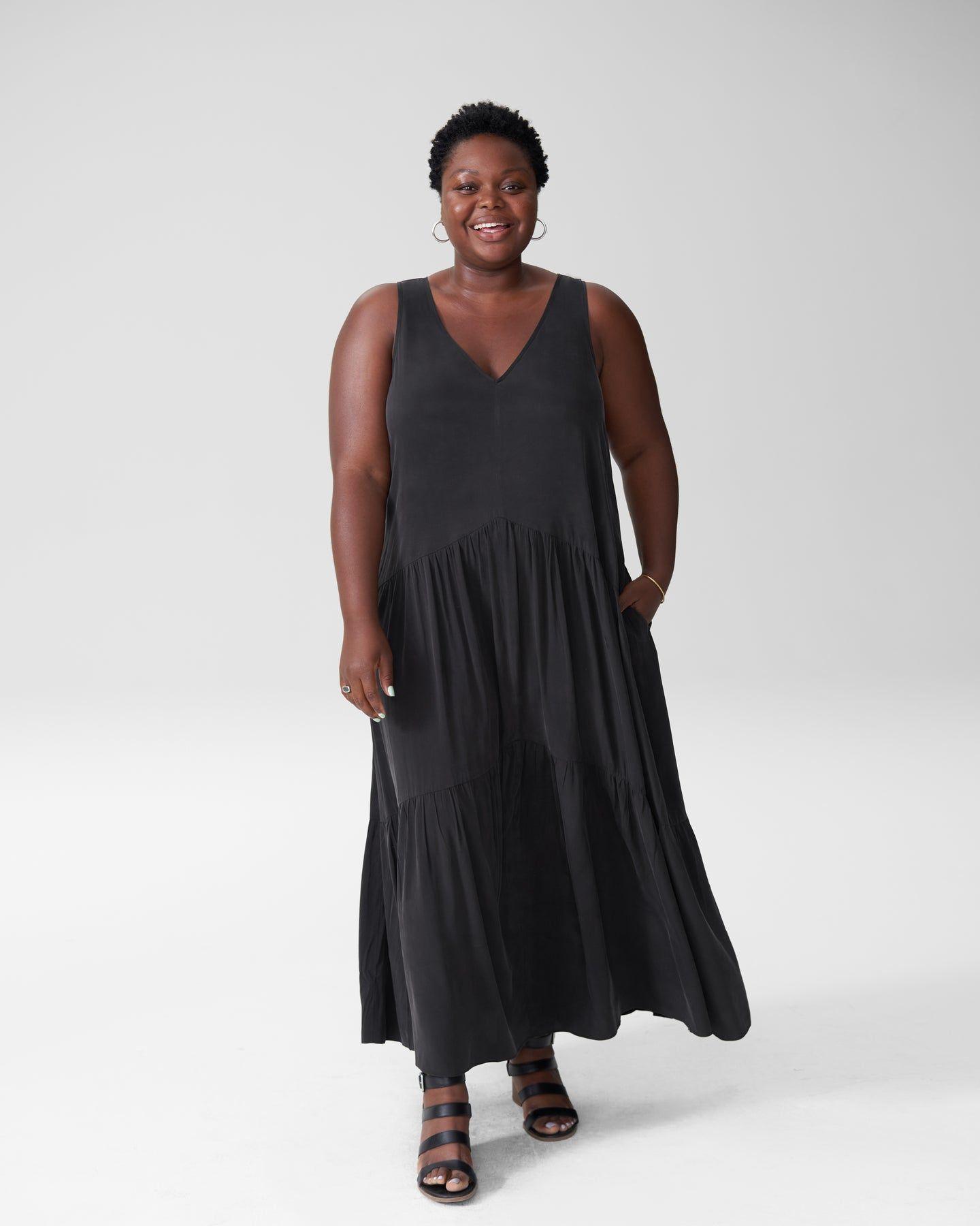 Emily Cupro Maxi Dress - Black - image 0