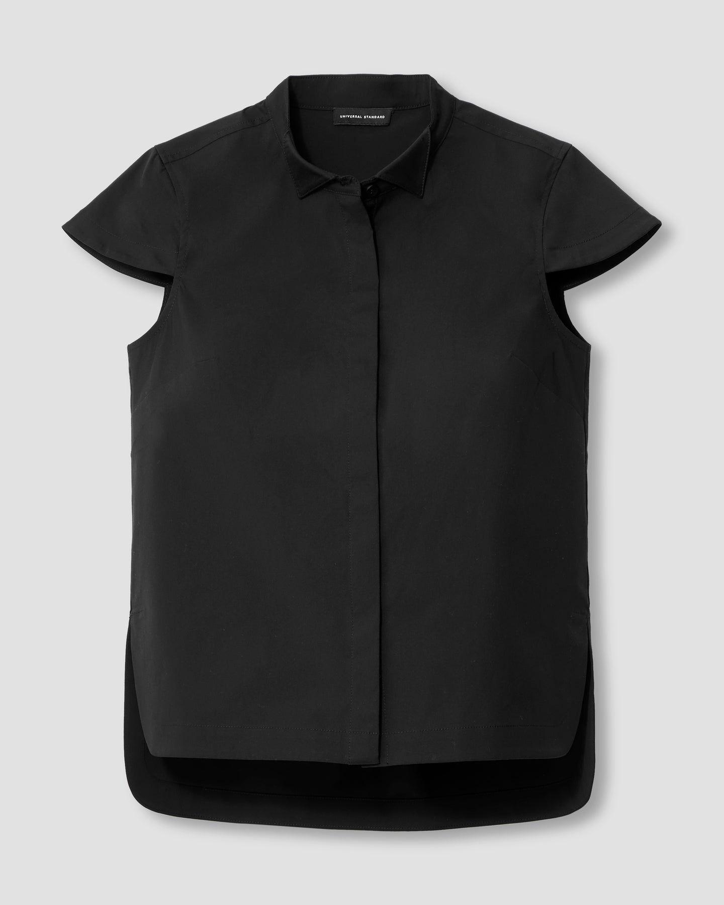 Aster Tuxedo Collar Shirt - Black - image 1