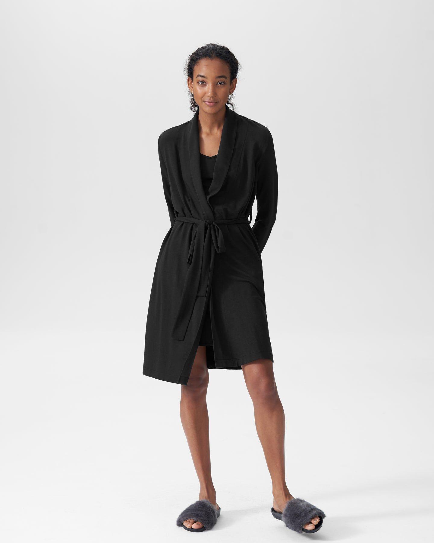 Rachele Lounge Robe - Black - image 1