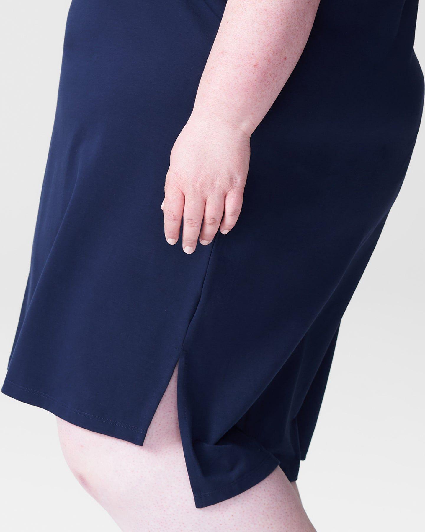Tesino Washed Jersey Dress - Navy - image 1
