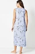 sleep ultrasoft v-neck long gown
