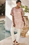 pure jill cotton & silk longline tunic