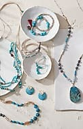 turquoise skies beaded station necklace