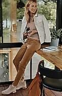 pull-on slim-leg corduroy pants