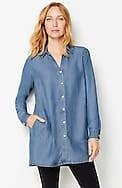 tencel™ indigo a-line tunic
