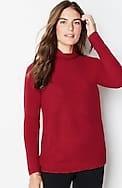 draped funnel-neck sweater