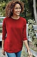 ribbed-pocket crew-neck sweater