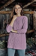 chenille cable-knit sweater tunic