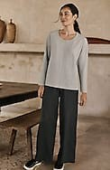 pure jill soft woven full-leg pants