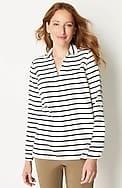 soft tab-sleeve pullover shirt