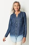 indigo dip-dyed tunic