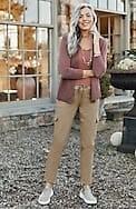 knit slim-leg cargo pants