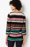 cotton & rayon striped sweater