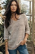 relaxed multicolored v-neck sweater