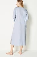 sleep ultrasoft long henley gown