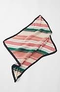 variegated-stripes pleated neckerchief