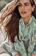 tossed-flowers pleated scarf