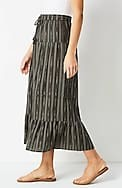 tiered ikat maxi skirt