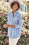linen relaxed patch-pocket tunic