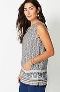 linen sleeveless two-pocket top