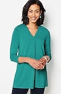 wearever pleated-neckline tunic