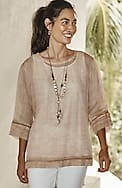 pure jill airy weave top