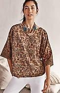 pure jill kalamkari kimono top