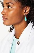 aegean blues post drop earrings