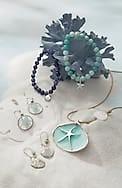 seaside finds drop earrings