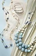 coastal colors semiprecious statement necklace