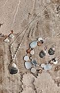 shimmering sea linear drop earrings