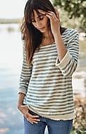 fringe-trimmed textured knit top