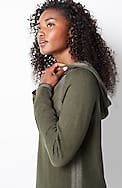 plaited hooded sweater tunic