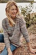 autumn sky lightweight textured sweater