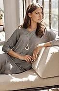 wearever v-neck dolman-sleeve top