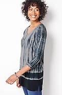 pure jill tie-dyed v-neck tunic