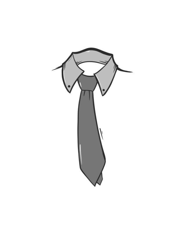Seventh step for Windsor Knot, Using both hands, tighten the knot carefully and draw up to the collar.