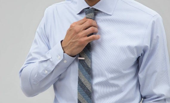 Shop Tie Bar Essential Blue Shirts