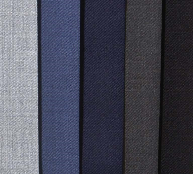 Variations in Tie-Bar Wool Dress Pants