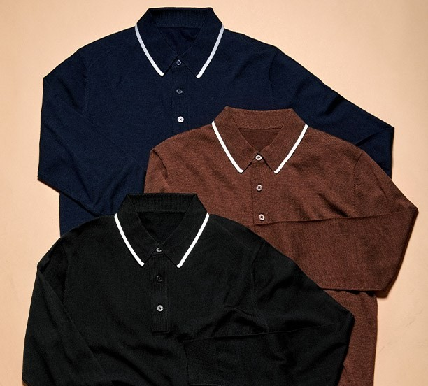 variety of Long Sleeve Polo from Tie-Bar