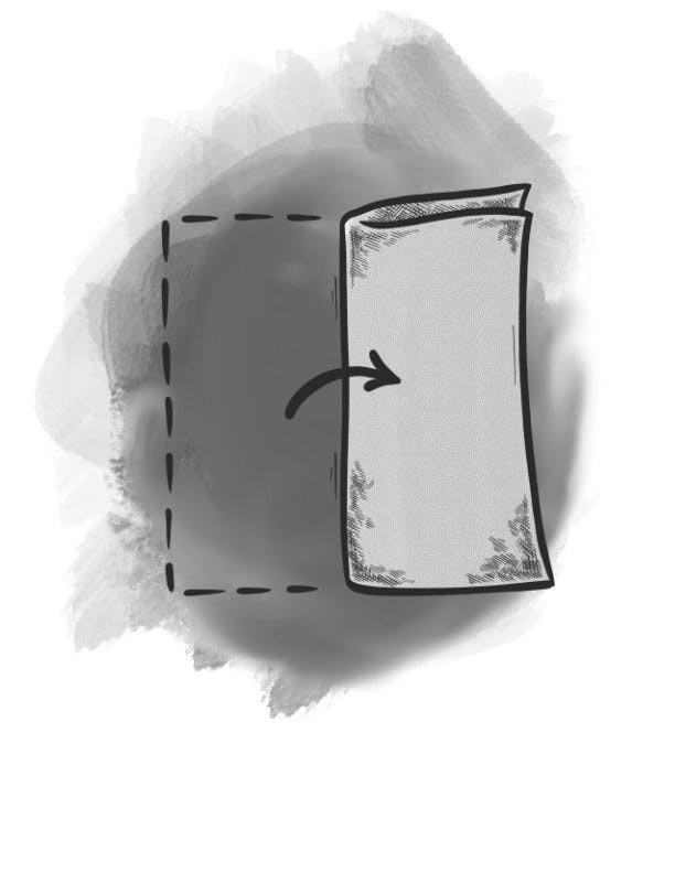 Second step - The Square Fold POCKET SQUARES