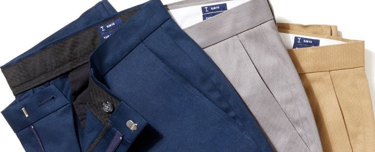 non-iron stretch cotton and wool dress pants