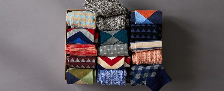 Box of men's socks