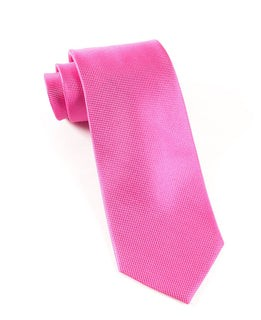 Solid Texture Fuchsia Tie